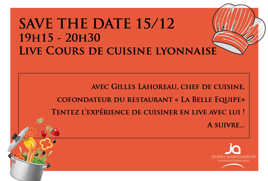 Revivez le LIVE Cours de cuisine lyonnaise !